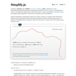 Simplify.js - a high-performance JavaScript 2D/3D polyline simplification library