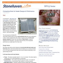 Comparing Solar Air Heater Designs & Performance — Stonehaven Life