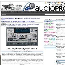 ProSounds - PS-1 Performance Synthesizer v1.2 VSTi DYNAMiCS