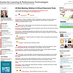 » Web Meeting/Conferencing & Virtual Classroom Tools C4LPT