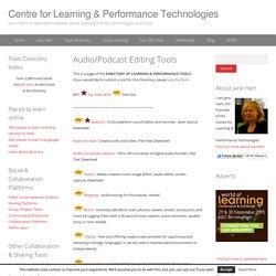 Audio/Podcast Editing Tools