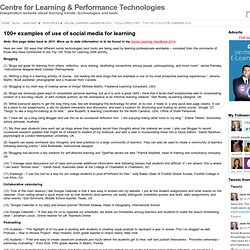 » 100+ examples of use of social media for learning C4LPT