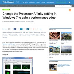 Change the Processor Affinity setting in Windows 7 to gain a performance edge