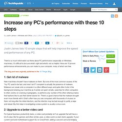Increase any PC's performance with these 10 steps