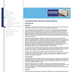 Building Energy Performance Assessment - Support Website :Low-temperature domestic heating systems