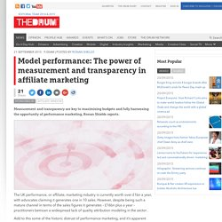 Model performance: The power of measurement and transparency in affiliate marketing