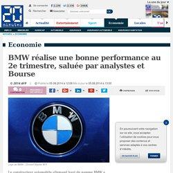 BMW réalise une bonne performance au 2e trimestre, saluée par analystes et Bourse