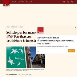 Solide performance de BNP Paribas au troisième trimestre