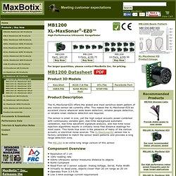 MB1200 XL-MaxSonar-EZ0 High Performance Ultrasonic Sensor