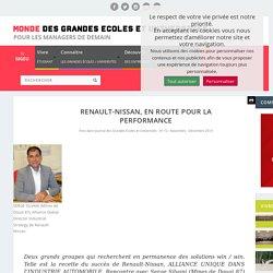 RENAULT-NISSAN, EN ROUTE POUR LA PERFORMANCE - Monde des grandes écoles et universités