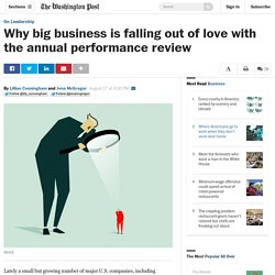 Why big business is falling out of love with the annual performance review