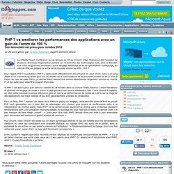 PHP 7 va améliorer les performances des applications avec un gain de l'ordre de 100 %, son lancement est prévu pour octobre 2015