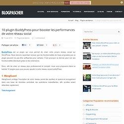 10pluginBuddyPress pour booster les performances de votre réseau social