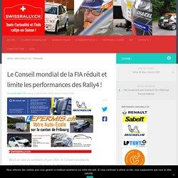 Le Conseil mondial de la FIA réduit et limite les performances des Rally4 ! - Swissrally.ch le site de référence du championnat Suisse des Rallyes