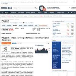 Peugeot : retour sur les performances commerciales du groupe