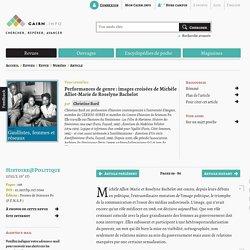 Performances de genre: images croisées de Michèle Alliot-Marie de Roselyne Bachelot