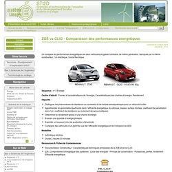 ZOE vs CLIO - Comparaison des performances énergétiques - STI2D