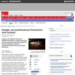 Google: ses performances financières sont saluées