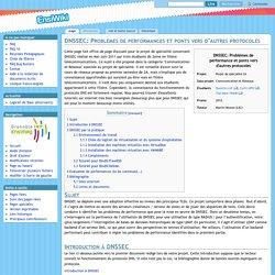 DNSSEC: Problèmes de performances et ponts vers d'autres protocoles
