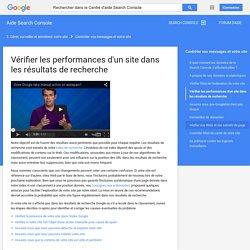 Vérifier les performances d'un site dans les résultats de recherche - Aide Search Console