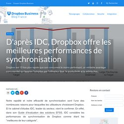 D'après IDC, Dropbox offre les meilleures performances de synchronisation