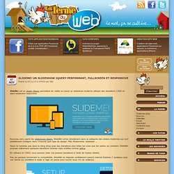 SlideMe! Un slideshow jQuery performant, fullscreen et responsive