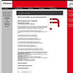 RSO et norme ISO 26000 : pour une entreprise performante / Conférences / Evenements / L'Academie - Academie