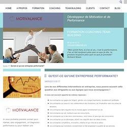 Qu'est-ce qu'une entreprise performante?