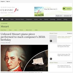 Unheard Mozart piano piece performed to mark composer's 265th birthday