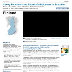 Strong Performers and Successful Reformers in Education