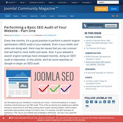 Performing a Basic SEO Audit of Your Website - Part One