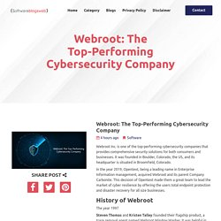 Webroot: The Top-Performing Cybersecurity Company
