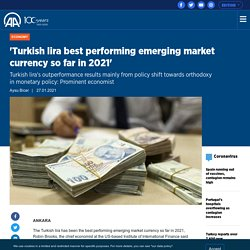 'Turkish lira best performing emerging market currency so far in 2021'