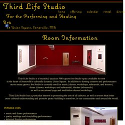 Third Life Studio, Performing & Healing Arts Studio, Somerville, MA