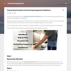 Step by Step Procedure for Performing Rangehood Installations
