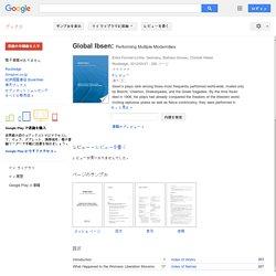 Global Ibsen: Performing Multiple Modernities - Google Books