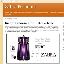 Zahra Perfumes: Guide to Choosing the Right Perfume