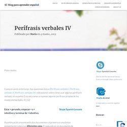Perífrasis verbales IV - El blog para aprender español
