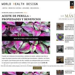Aceite de Perilla - Propiedades y Beneficios - World Health Design