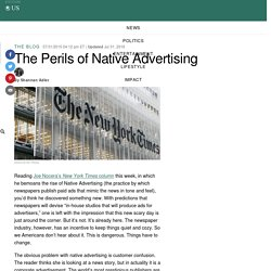 The Perils of Native Advertising