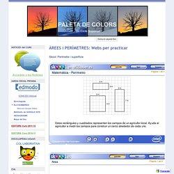 ÀREES i PERÍMETRES: Webs per practicar - paleta de colors