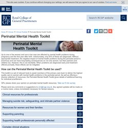 Perinatal Mental Health Toolkit