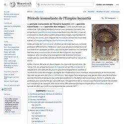 Période iconoclaste de l'Empire byzantin
