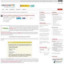 Crea un periódico colaborativo en línea con Magazine Factory