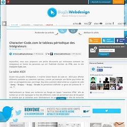 Character-Code.com le tableau périodique des intégrateurs