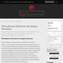 Périodiques littéraires de langue française