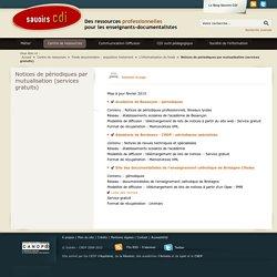 Notices de périodiques par mutualisation (services gratuits)