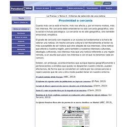 Periodismo online - Criterios de selección de una noticia