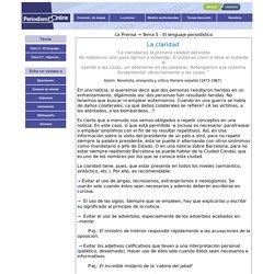Periodismo online - El lenguaje periodístico