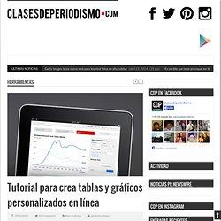 Tutorial para crea tablas y gráficos personalizados en línea